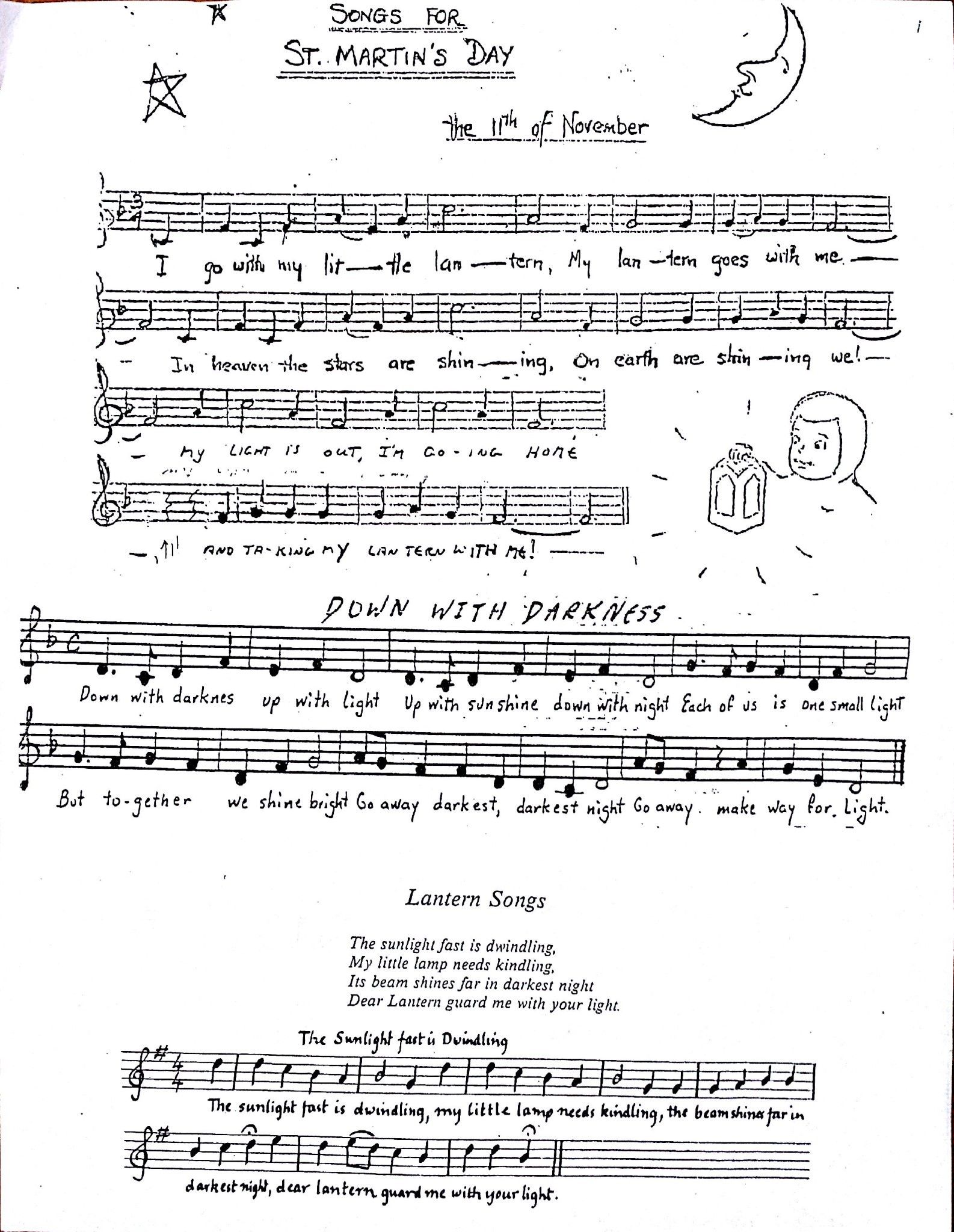 Lantern Songs Sheet Music Art Of Homeschooling