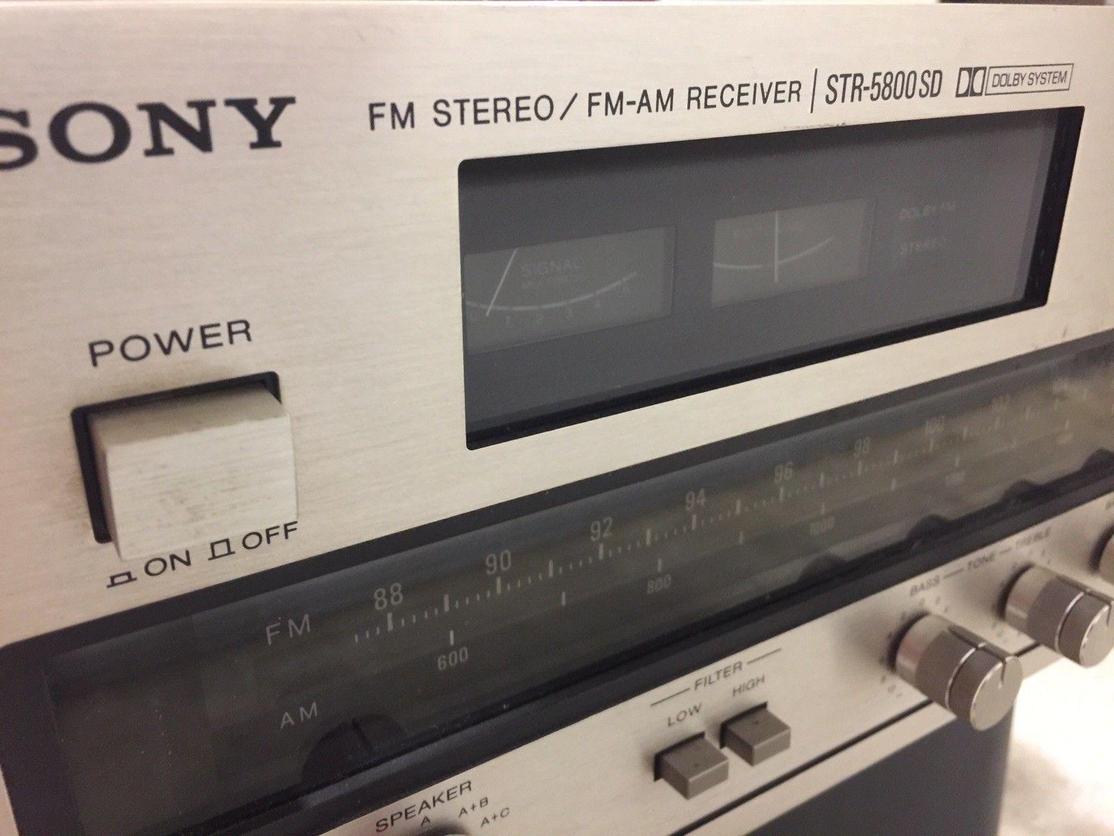 Vintage Sony STR-5800SD Am Fm Stereo Receiver in 2019   Sony