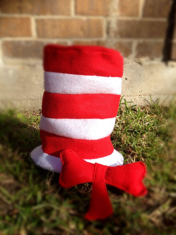 Dr seuss cat in the hat hat bow seuss party seuss bows