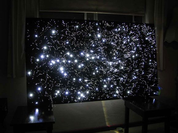 Star Map Fiber Optic Lights And Ceiling - Fiber optic bedroom lighting