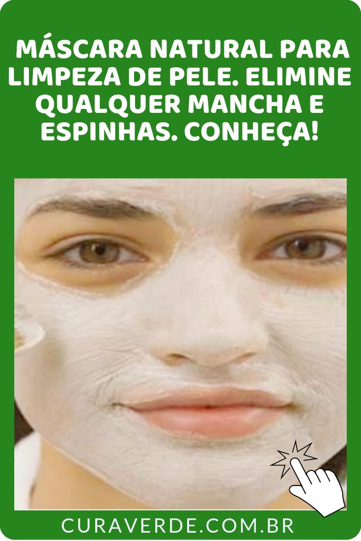 Mascara Natural Para Limpeza De Pele Eliminar Manchas E Espinhas