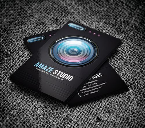 Photographer Lens Business Card #businesscards #visitingcards ...