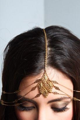 Gold head crown.