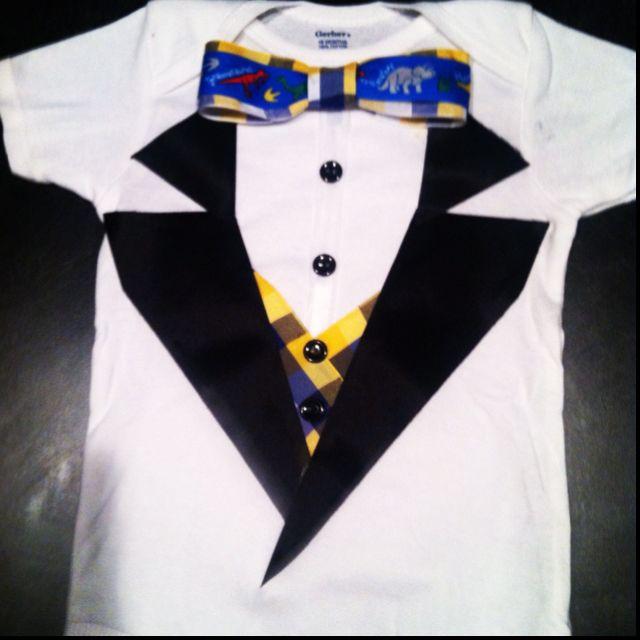 Easter Tuxedo Onesie w/a Dino Tie