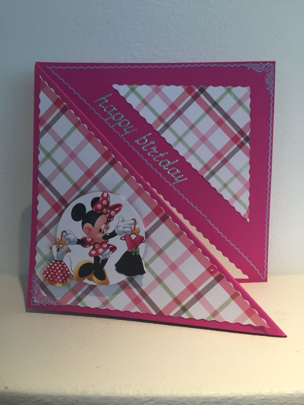 Minnie Mouse card made by me!