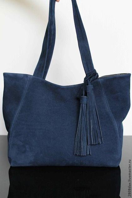 8e457377cfb3 Женские сумки ручной работы. Ярмарка Мастеров - ручная работа Сумка  замшевая, синий, темно