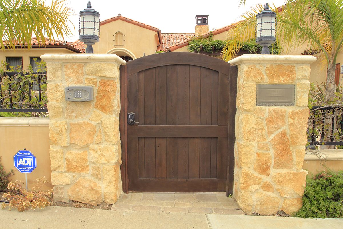 Entry gates made out of love and raw wood.   Garage Doors, Gates ...