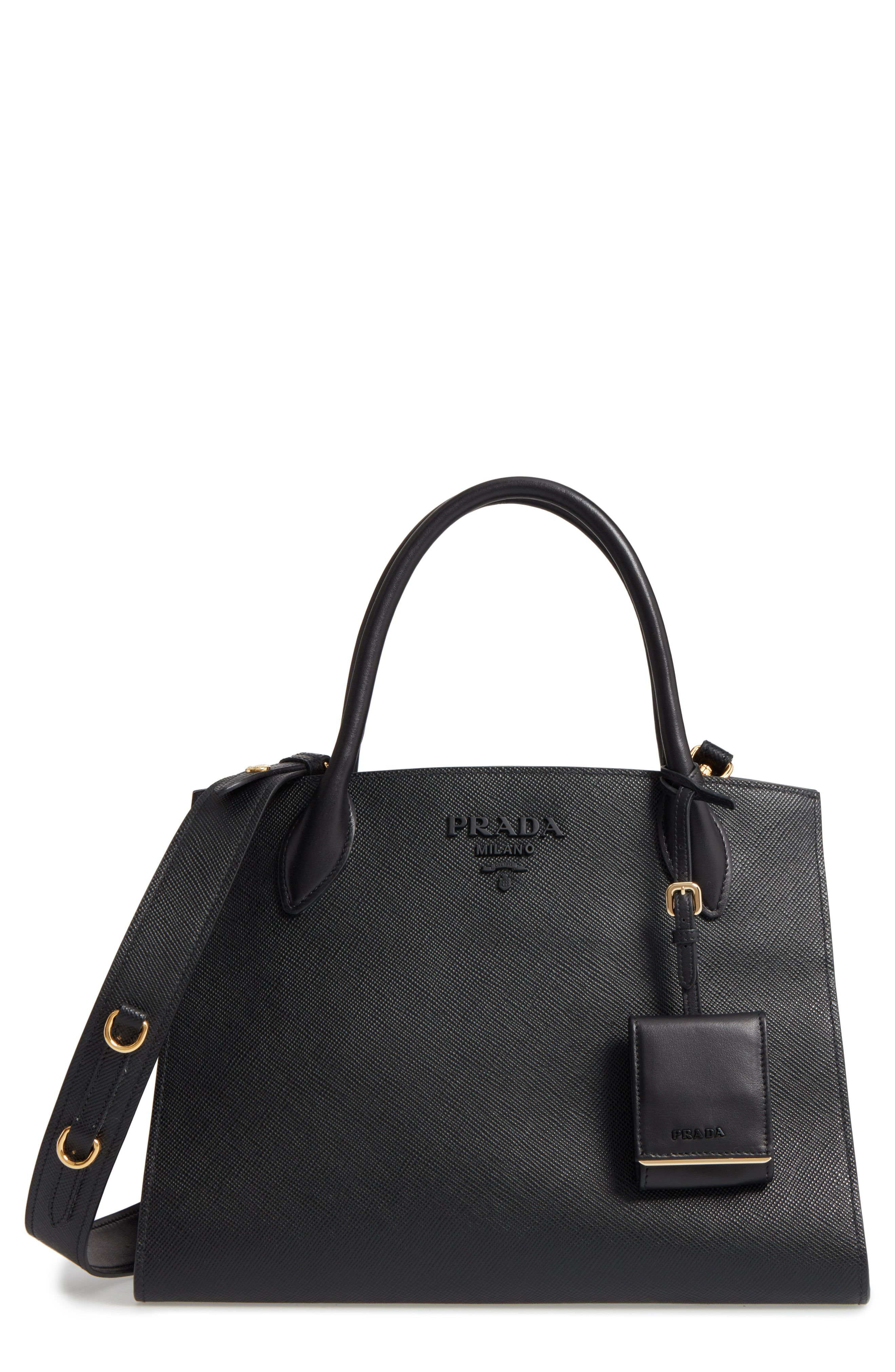 3a3af56cb1584 Prada Large Monochrome Tote in 2019 | Products | Prada, Monochrome, Bags