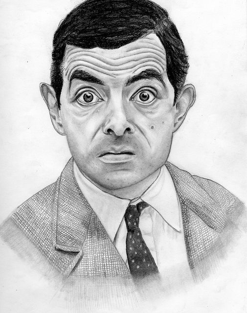 Mr Bean Charcoal Portrait Art Drawings Sketches Creative Art Drawings Sketches Simple Egyptian Drawings