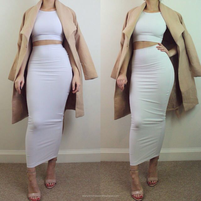 Bodycon Two Piece | Tight Midi Skirt & Crop Top | Nova Fashion pt2 ...