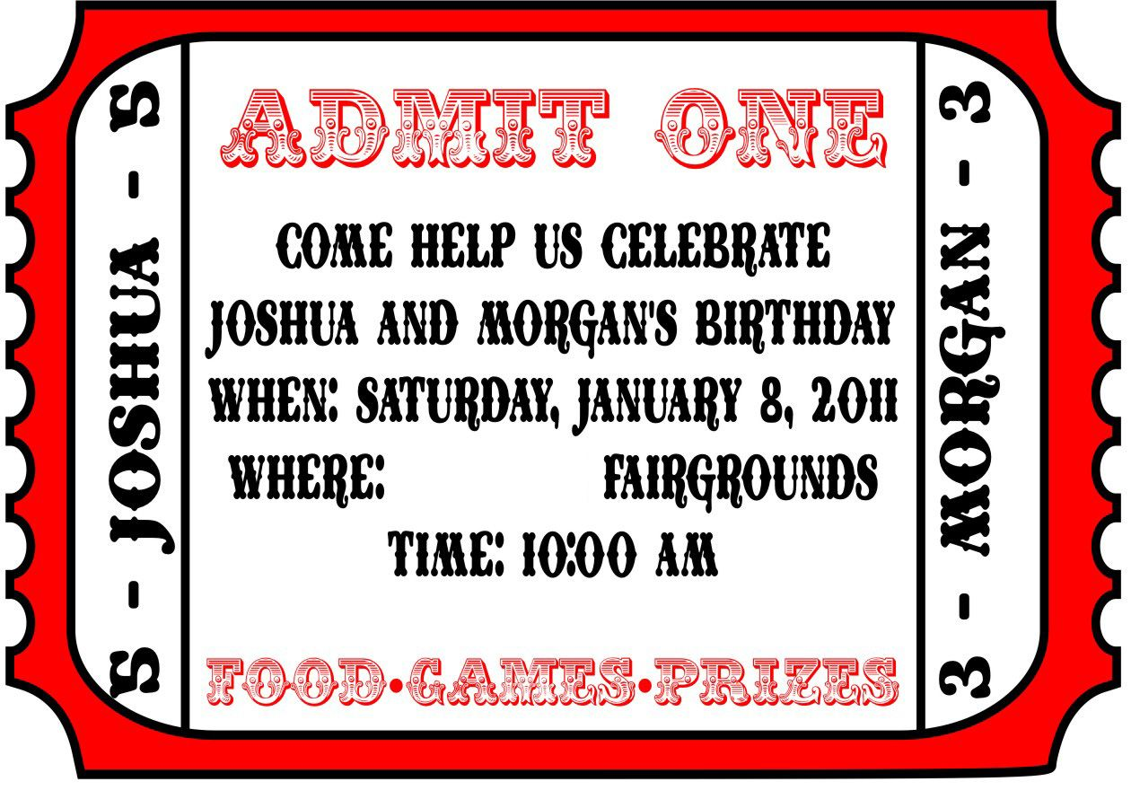 Free Printable Carnival Invitations | Birthday themes | Pinterest ...