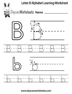 preschool letter b alphabet learning worksheet write your abcs letter b worksheets letter d. Black Bedroom Furniture Sets. Home Design Ideas