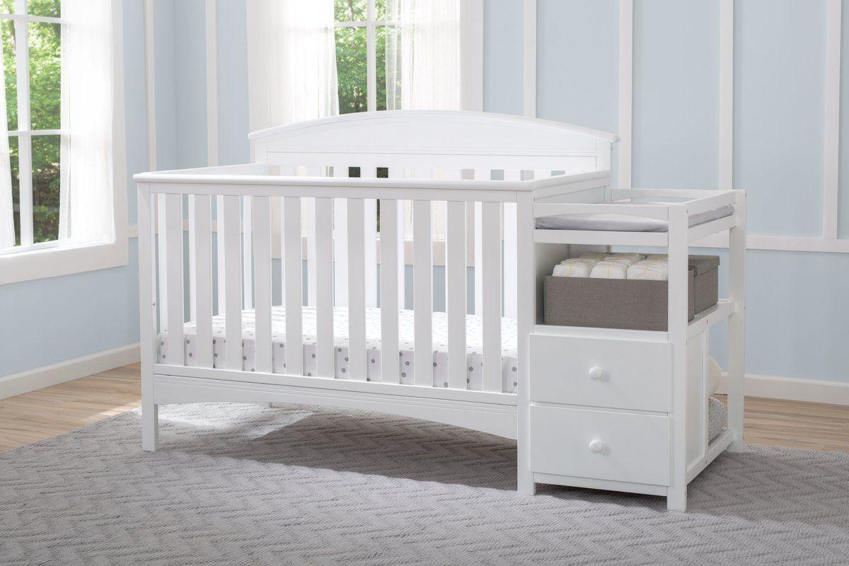 Delta Children Abby Convertible Crib N Changer Grey