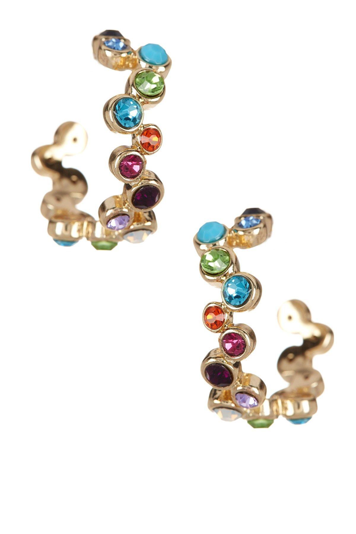 Nordstrom Rack Curved Bezel Hoop Earrings