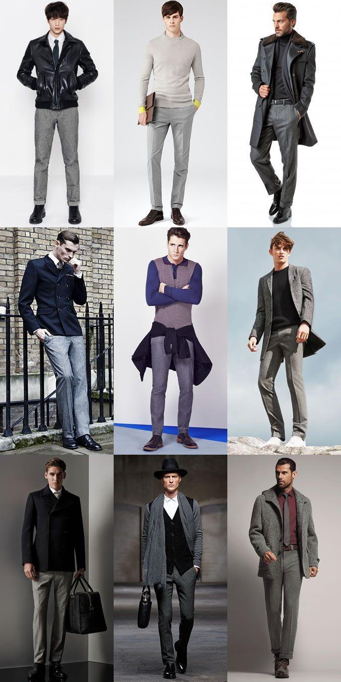 a729925f8fc7 Men's Autumn/Winter Essential Fabrics: Wool in Grey Flannel Trousers Lookbook  Inspiration