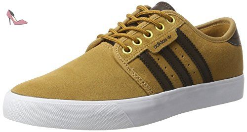 adidas Seeley, Basses Homme, Marron (MesaDark BrownFtwr