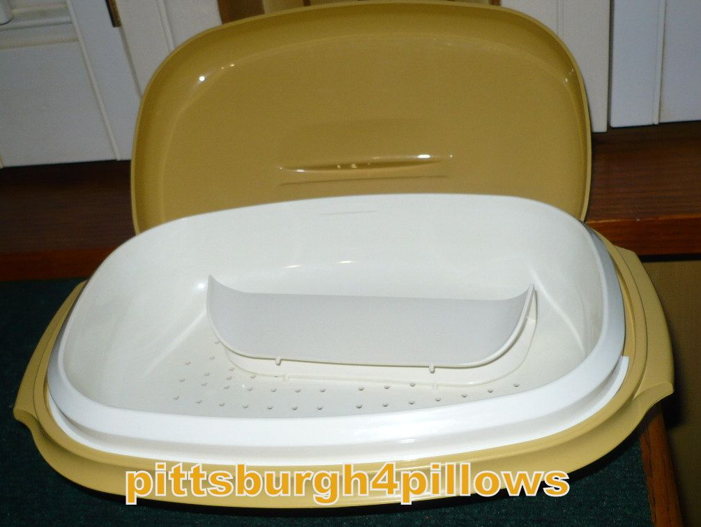 Tupperware - Vegetable Steamer With Divider - Harvest Gold - 1273 - EUC - 1970's - Read Below by pittsburgh4pillows on Etsy