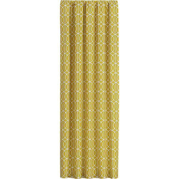Bella Porte Citrine 50x96 Curtain Panel In Curtains