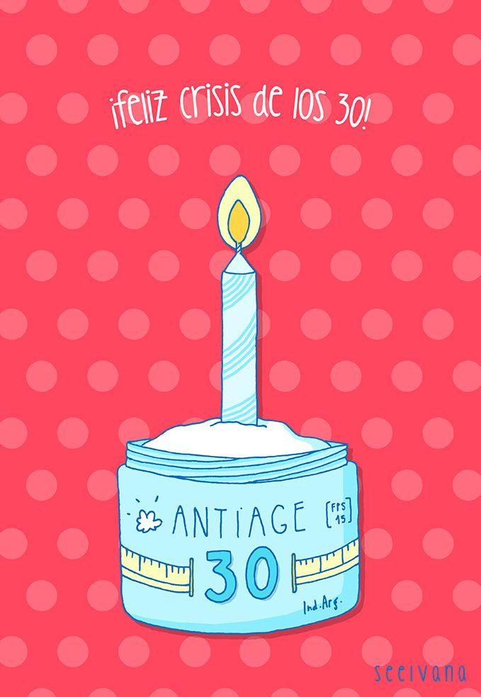 Diseo de tarjetita para cumpleaos de 30 drawing Pinterest