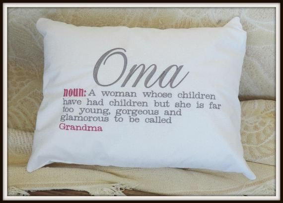 Oma Gift, Oma German Grandma, Dutch Grandma Pillow, Grandmother gift, Babcia, Granny, memere, busha, me maw, grandparents day gift #grandparentsdaygifts