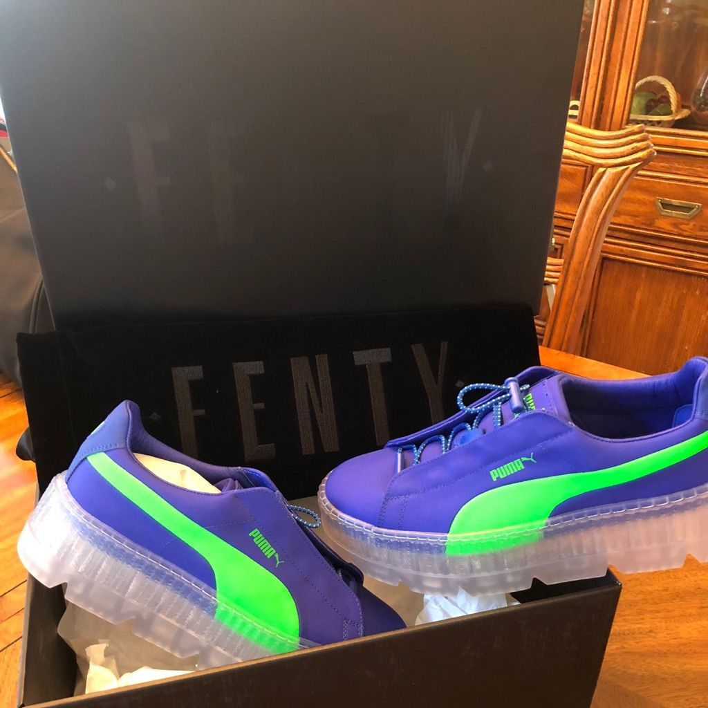 newest 230ab 5c7b5 Puma Shoes | Fenty Puma Creeper | Color: Blue/Green | Size ...