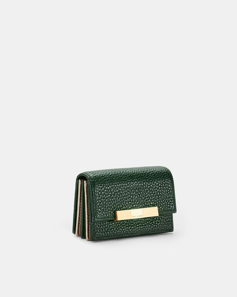 c5f2969871bd Pebbled leather cardholder - Dark Green