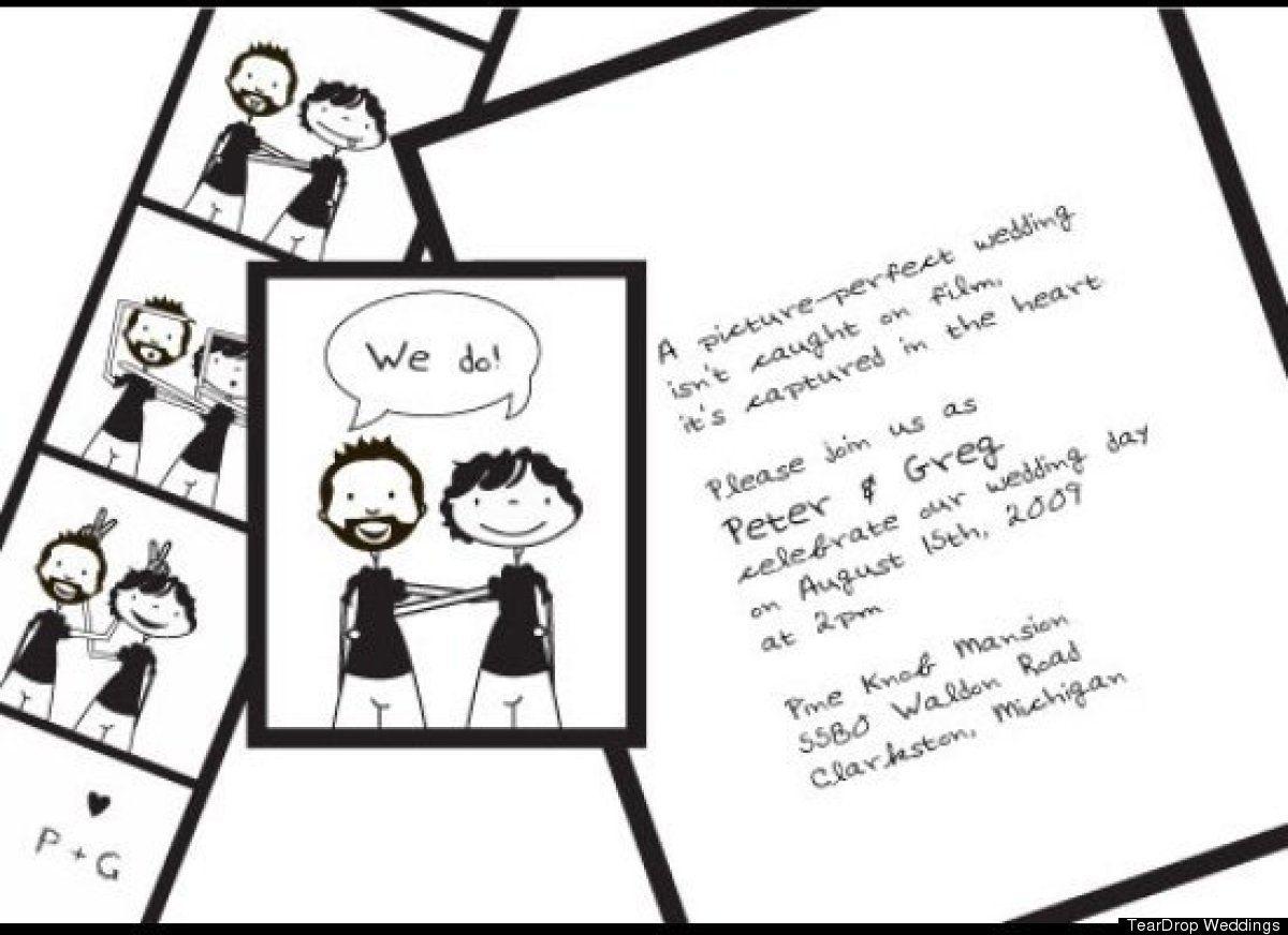 Gay Wedding Invitations: LOOK: 12 Beyond Lovely Same-Sex Wedding Invites