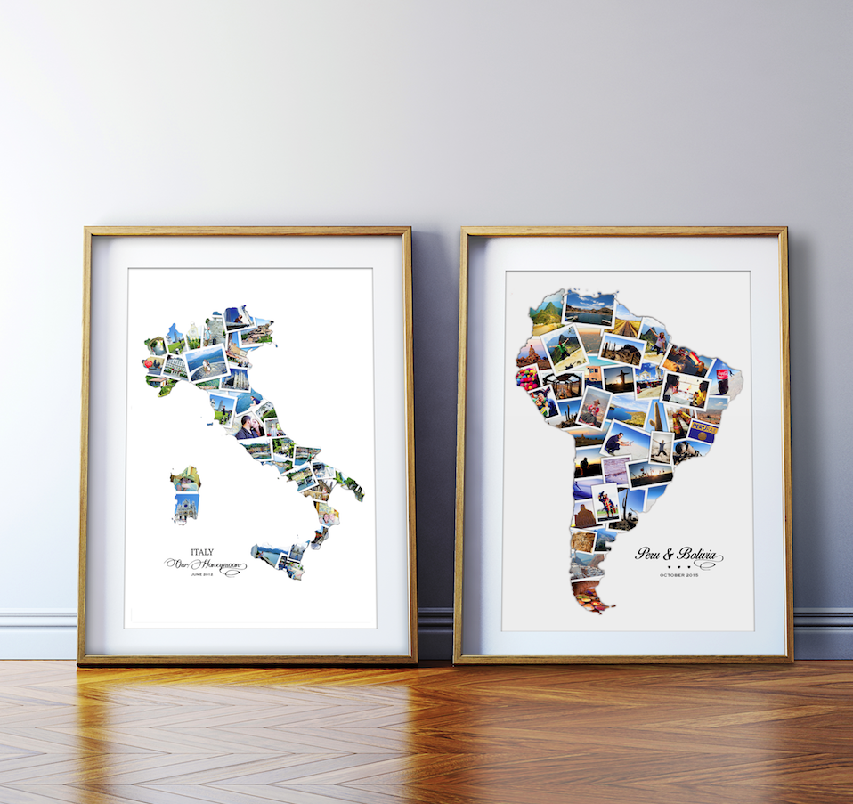 Opulent Hand Designed Destination Collages The Perfect Way To Capture A Wedding Day Anniversary Or Honeymoon Great Art Piece Display On Your