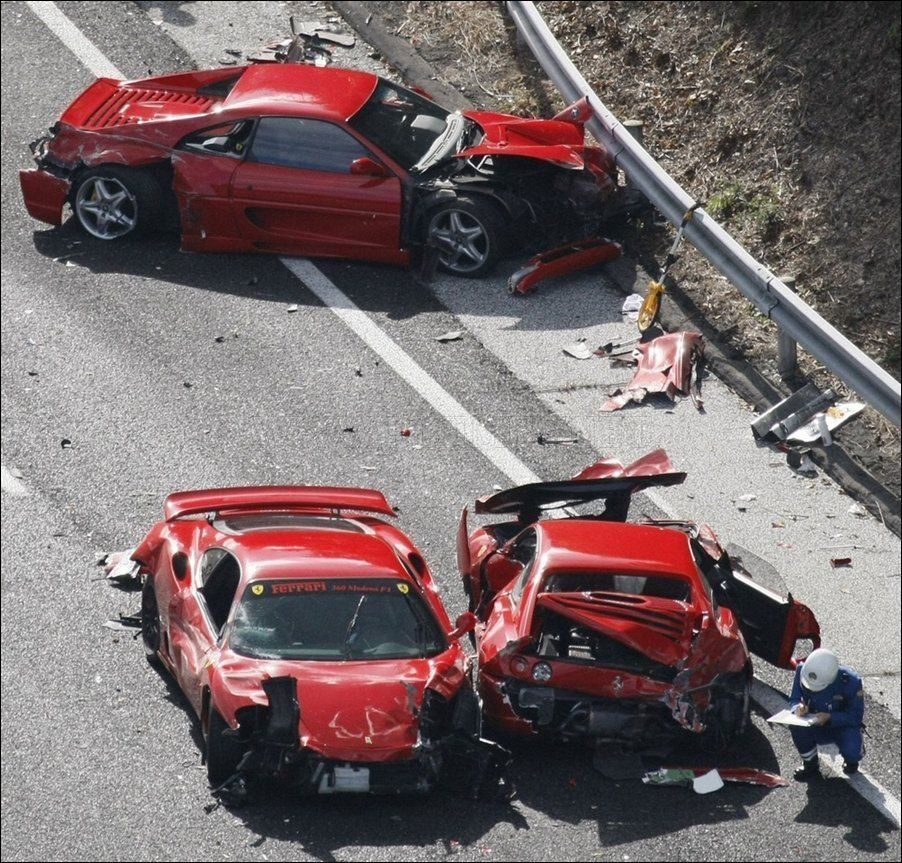 The Massive Crash With 14 Cars Involved Occurred On The