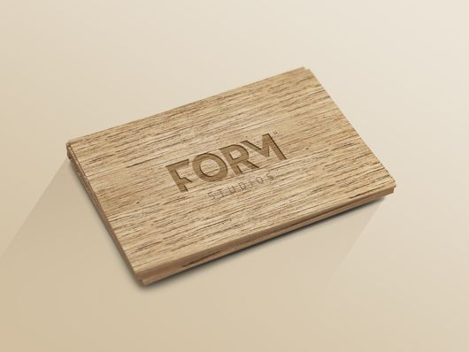 Wood Business Card Template Psd Smart Object Business Card Template Psd Wood Business Cards Business Card Mock Up