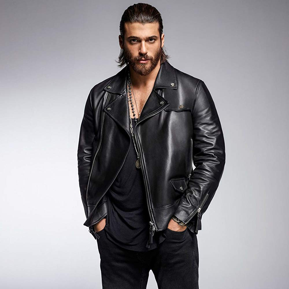 Can Yaman Leather Jacket Men Actors Leather Jacket [ 1000 x 1000 Pixel ]