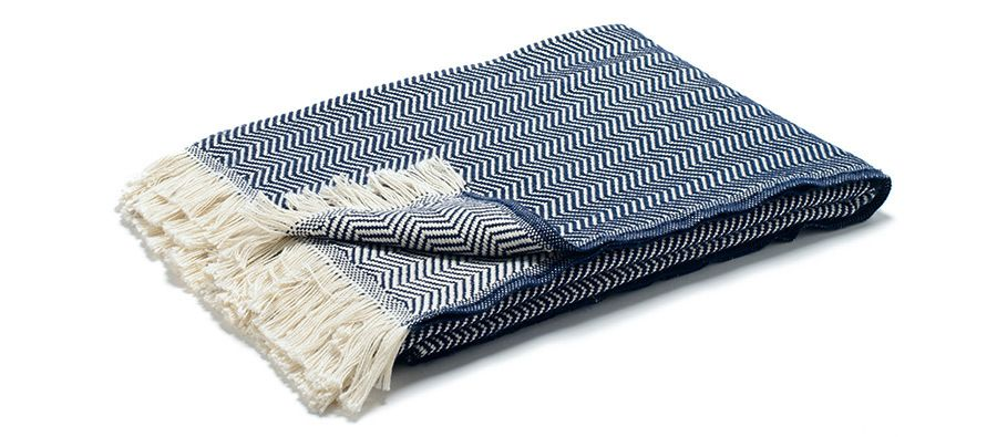 Cotton Herringbone Blanket Navy Gift Ideas Pinterest Beauteous Patterned Blanket