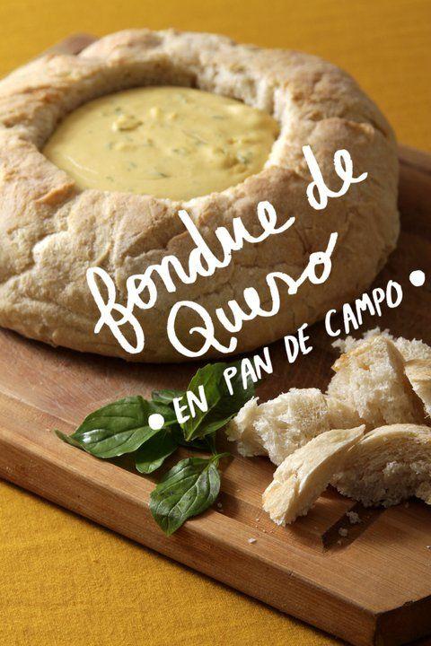 Fondue de Queso en Pan de Campo.  Receta, Ferni Klein.  Fotos, Pau Velasquez.  Ilustración, Cata Bustos.
