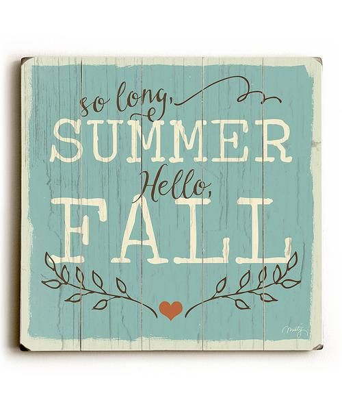 This So Long Summer wood sign by Artist Misty Diller is a beautiful way to welcome Fall. The sign is a hand distressed planked wood design made of birch wood.