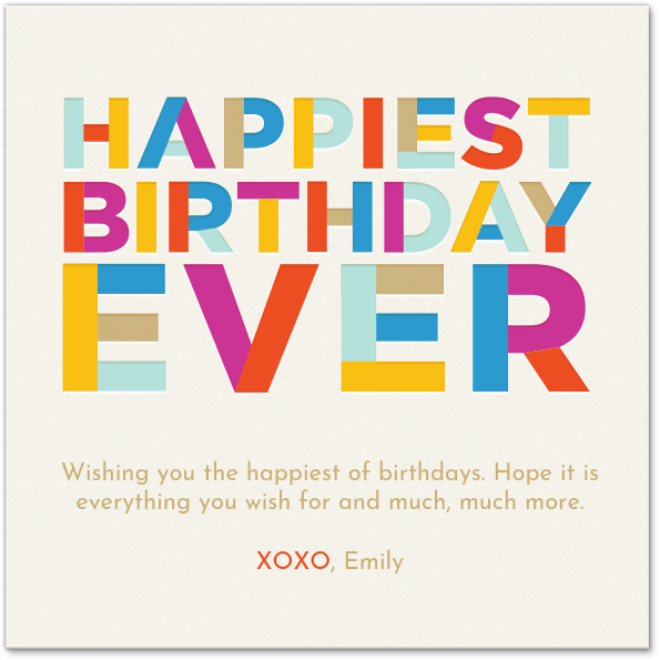Happiest Birthday Ever Card