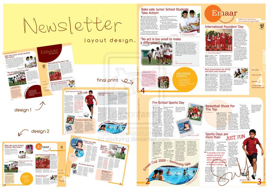 Newsletter Layout Design By Sockying On DeviantART