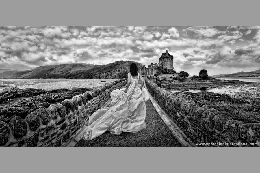 This photograph was taken in Scotland, and has won the major Award Wedding of the United States, the Grand Imaging Award 2012, from Professional Photographer of America (PPA).