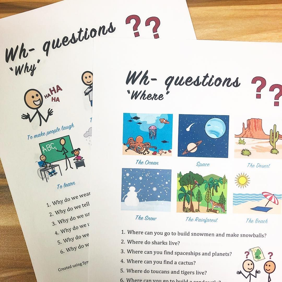 Slp Resource On Instagram Wh Question Worksheets Now Up