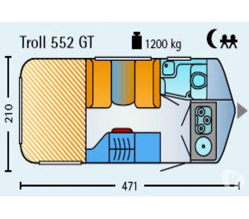 photos vivastreet caravane eriba touring troll 552 gt. Black Bedroom Furniture Sets. Home Design Ideas
