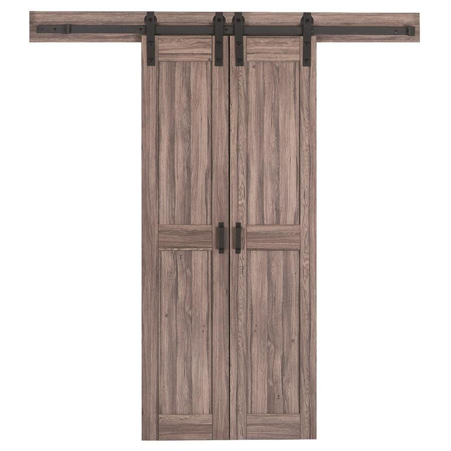 Reliabilt Brown Solid Core Mdf Barn Interior Door With