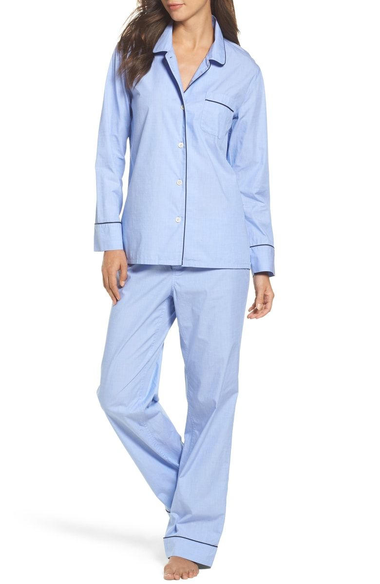cbfadaa919 Free shipping and returns on J.Crew Vintage Cotton Pajamas at  Nordstrom.com. Contrast piping outlines classic menswear-inspired cotton PJs  that pair a ...