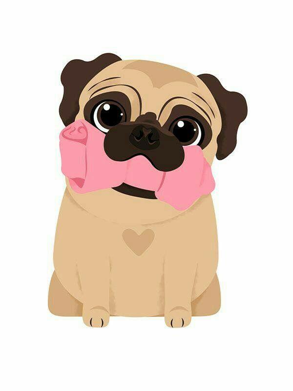 Pin By Katrina Gabule On Puppies Pugs Wallpaper Drawings