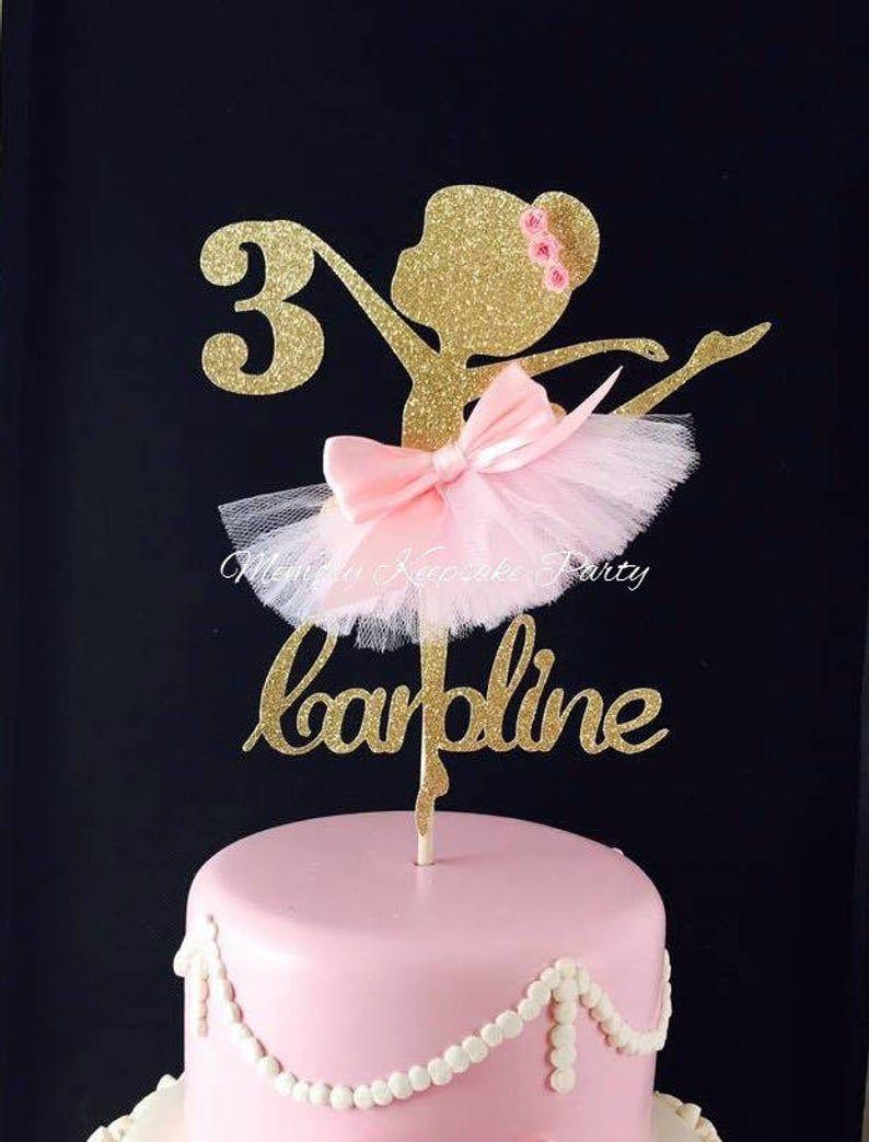 Ballerina Cake Topper Ballerina Party Decorations Etsy Ballerina Birthday Party Cake Ballerina Party Centerpiece Ballerina Party Decorations