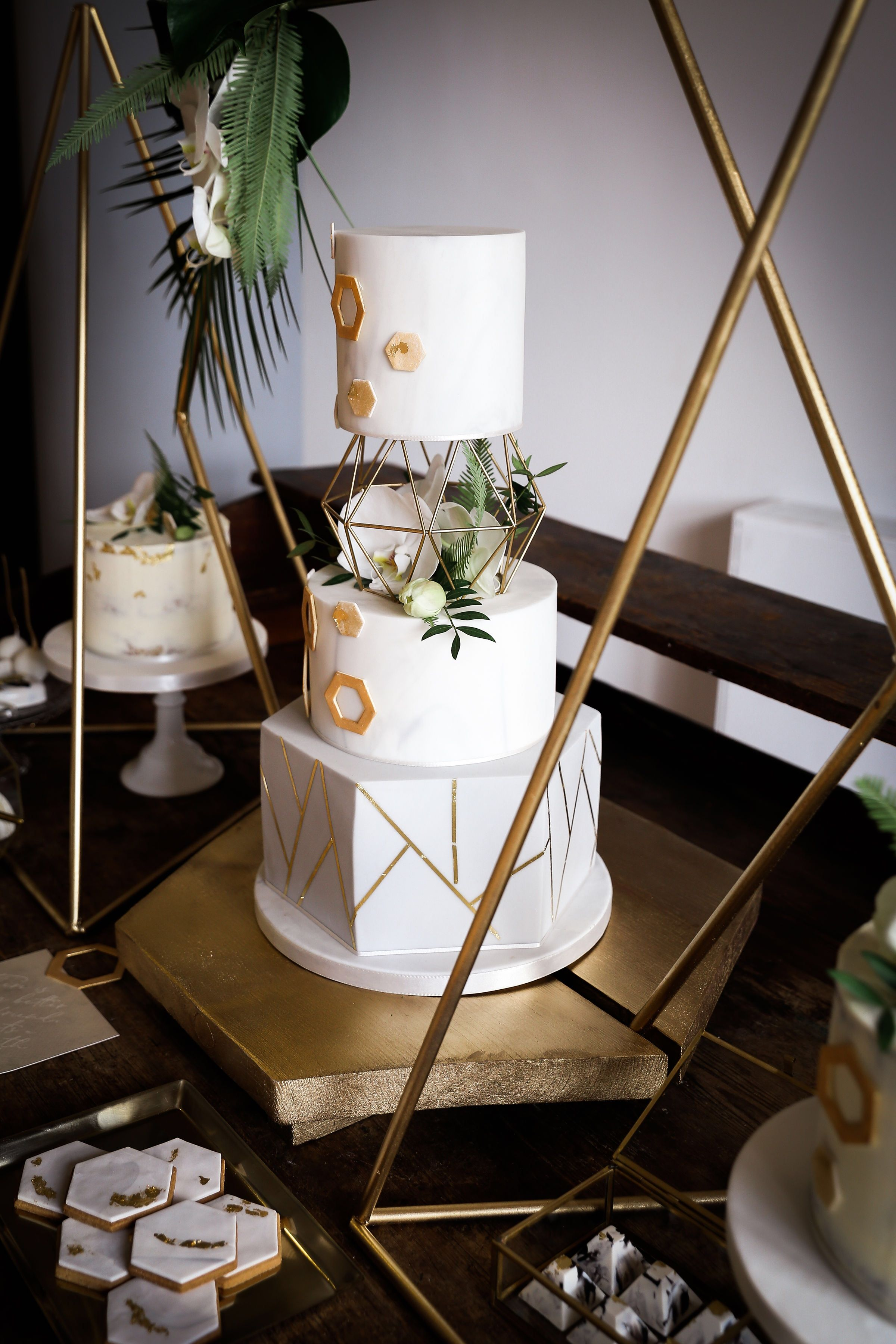 Geometric cake stand geometric cake cool wedding cakes