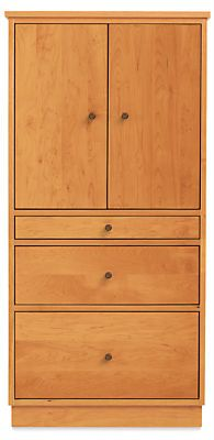modern office armoire. Linear Modern Two-Door Office Armoire With Wood Base - Storage\u2026