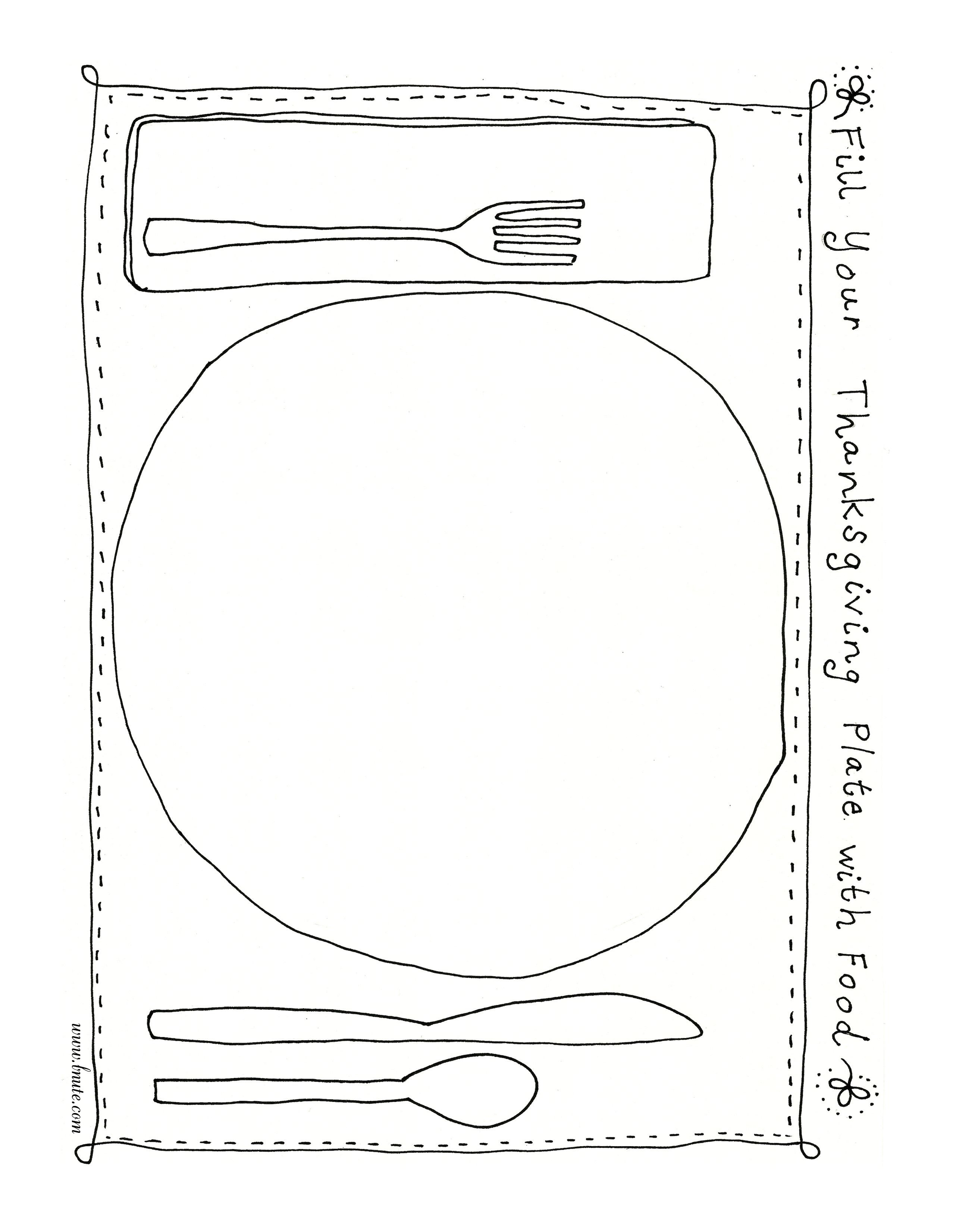 My Plate Coloring Pages For Preschool