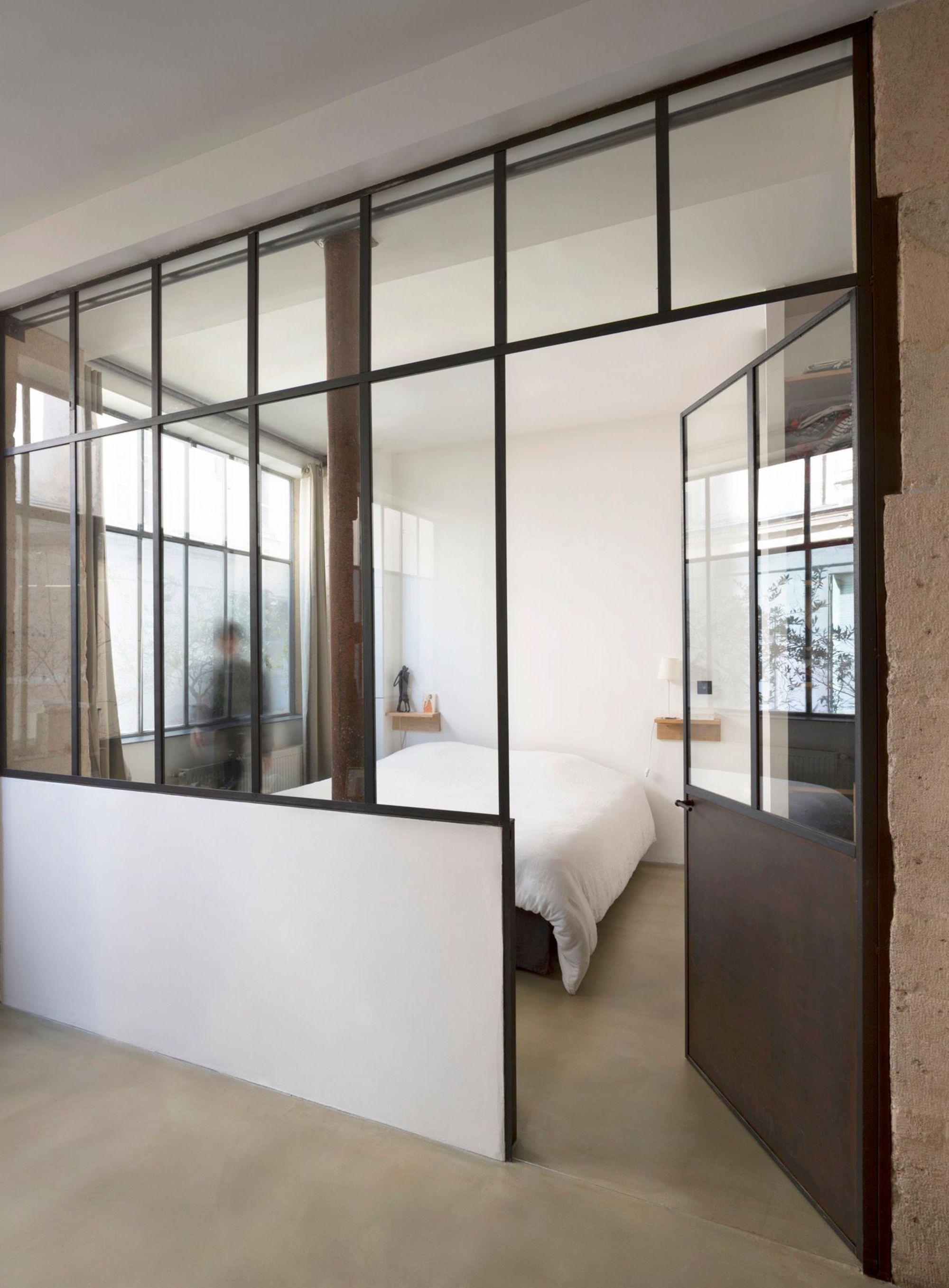 Loft bedroom with ensuite  Appartement Paris  visitez  réalisations duarchitectes in