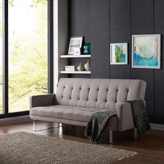 Shop for Handy Living Springfield Dove Grey Linen Click Clack Futon