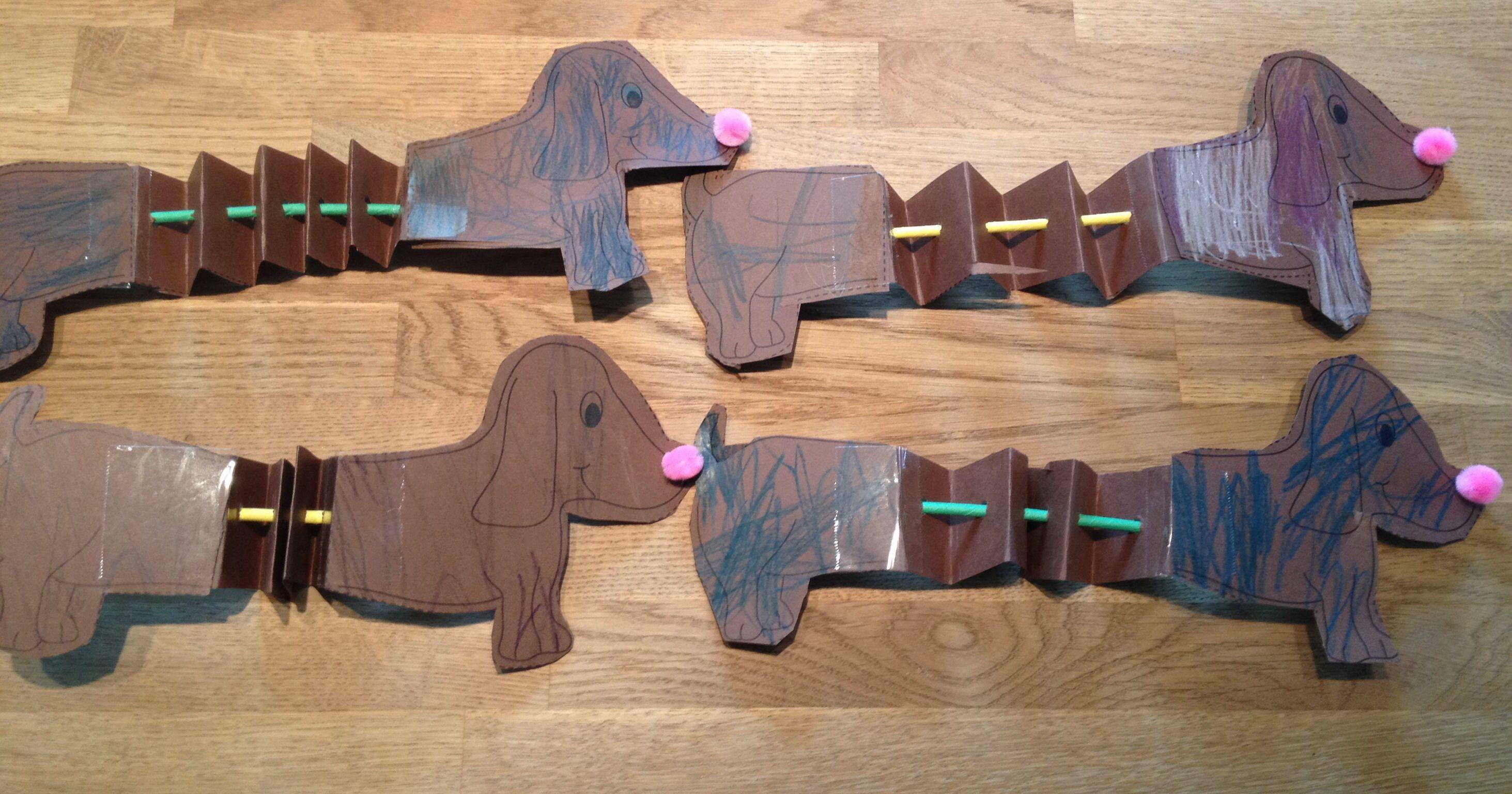 Preschool Craft Opposites Long And Short Dog Craft