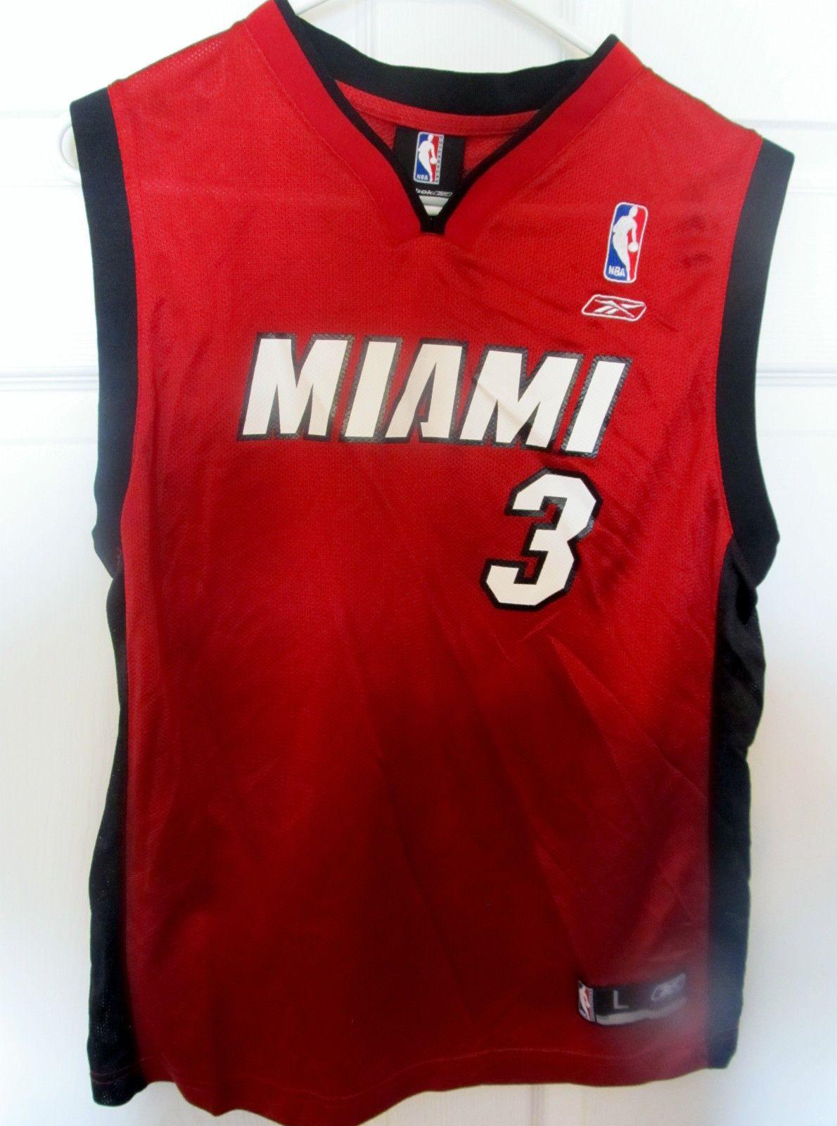 info for f88c2 bff00 Reebok Dwyane Wade , Miami Heat jersey , youth large ...
